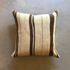 "Brown Vintage Kilim Pillow - 19"" x 19"""