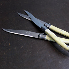 .Neutral Pale Horn Knife Set