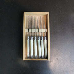 .White Stainless Steel Knife Set