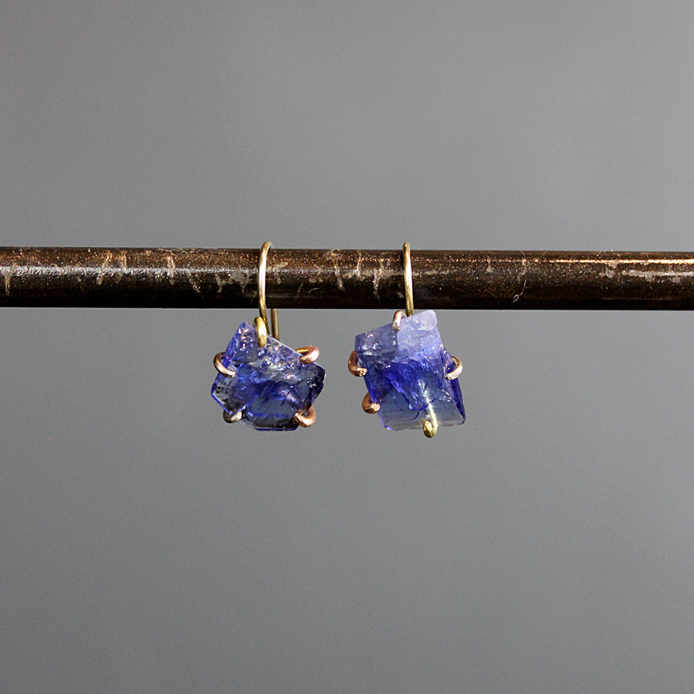 Blue Tanzanite Hook Earrings