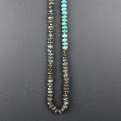 Grey Labradorite + Chrysoprase Necklace