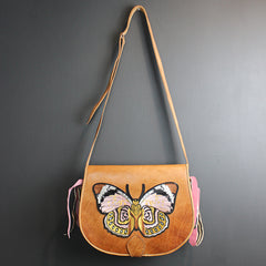 Brown Leather Butterfly Bag