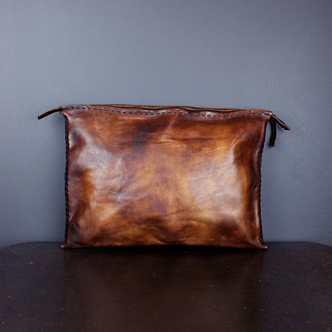 Brown Handmade Leather Document/Computer Case