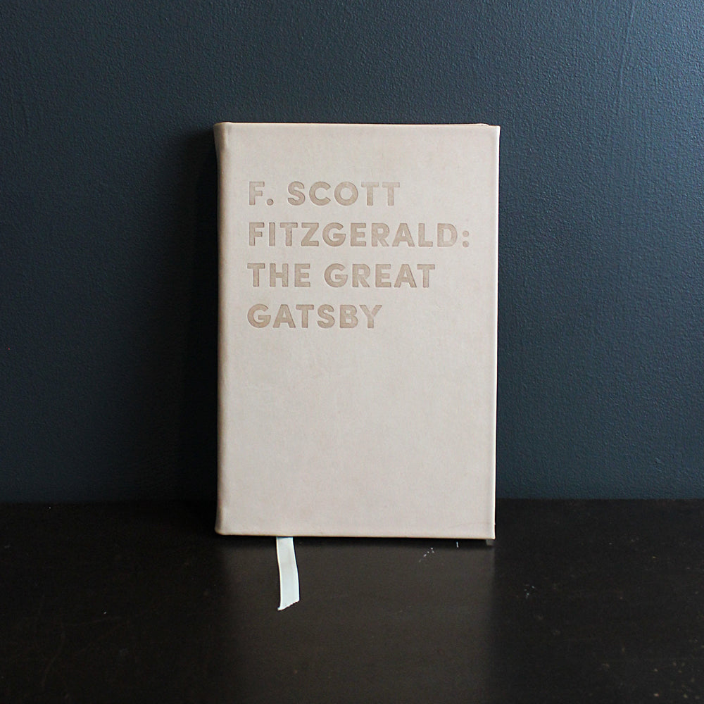 Neutral Leather Bound Great Gatsy Book