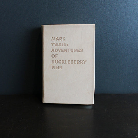 .Neutral Leather Bound Huckleberry Finn
