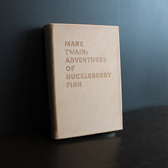Neutral Leather Bound Huckleberry Finn