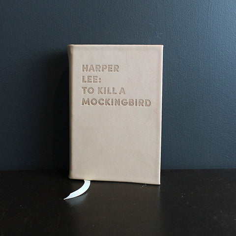 .Neutral Leather Bound To Kill a Mockingbird Book