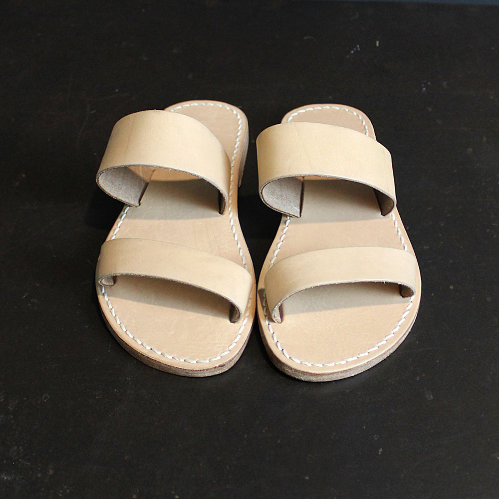 Neutral Leather Sandals