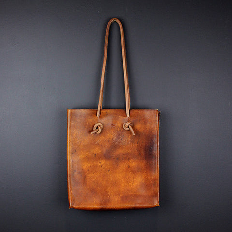 Brown Handmade Leather Tote