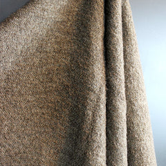 Brown Handwoven Linen Throw