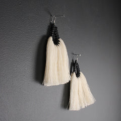 Handmade Long Cotton Earrings