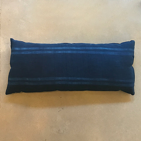 ".Blue Long Cushion - 31 1/2""W x 14""H"