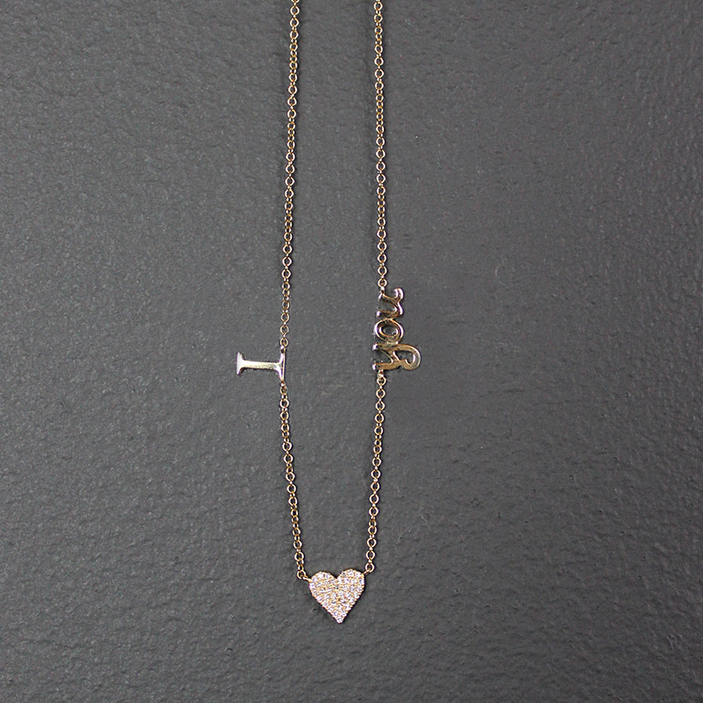 Gold 14K I Love You Necklace