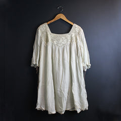 .Cream Lace Dress