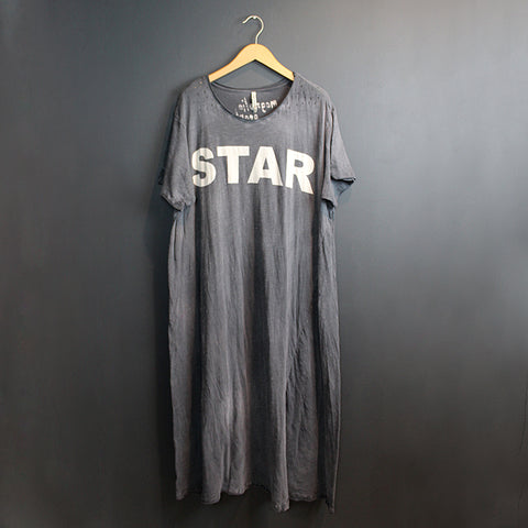 .Blue Cotton Star Dress