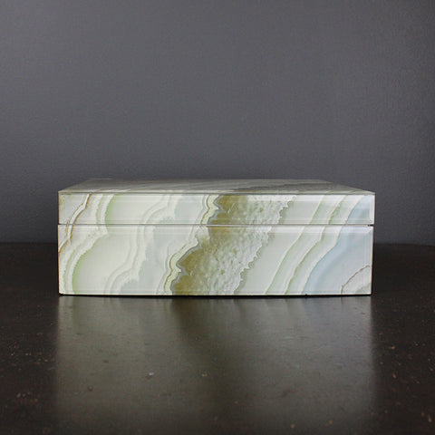 .Grey Marble Box - Large