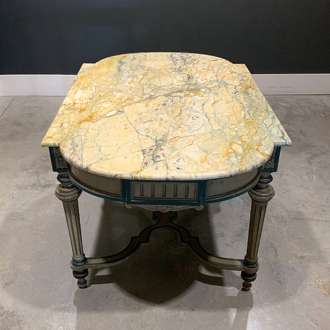 .Multi Colored Vintage Marble Table