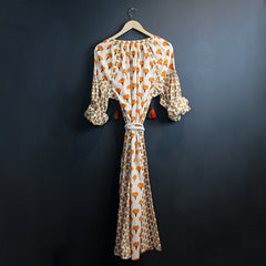 Orange + Cream Marigold Dress