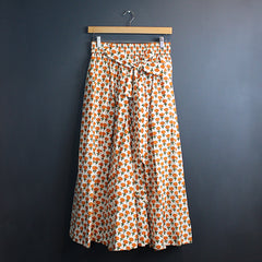 Orange + Cream Marigold Skirt