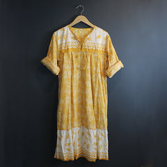 Yellow Cotton Dress