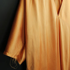 Orange Silk Dress