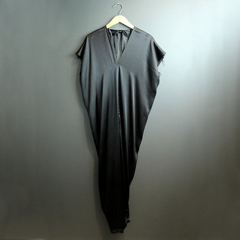 .Black Silk Jumpsuit