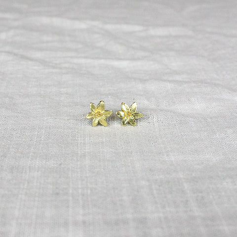 .Mini Gold Flower Earrings