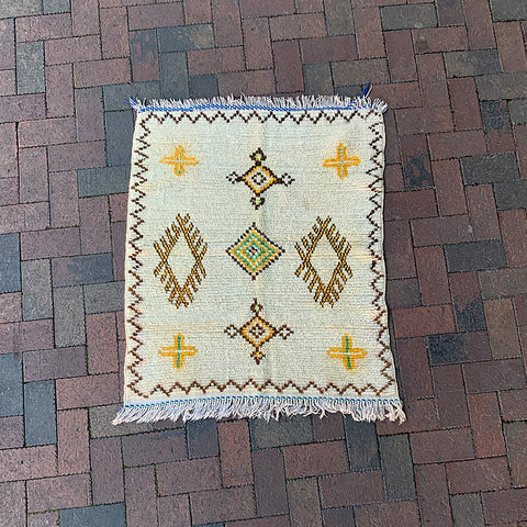 ".Multi Colored Small Moroccan Rug - 2' 10"" x 3' 4"""