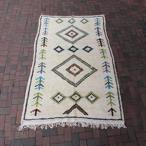 ".Multi Colored Moroccan Rug - 4' 10"" x 7' 7"""