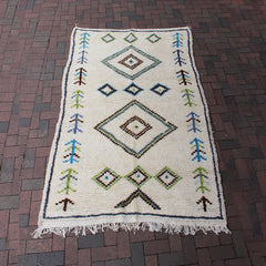 "Multi Colored Moroccan Rug - 4' 10"" x 7' 7"""