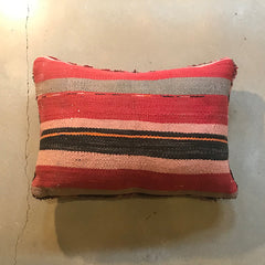 "Multi Colored Vintage Moroccan Rug Pillow - 24"" x 16"""