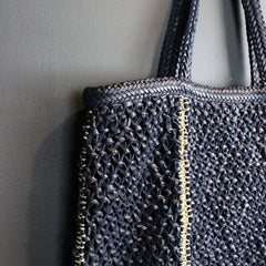 Navy Handmade Leather Bag