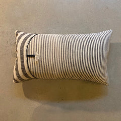 "Cream + Black Stripe Pillow - 22"" x 13"""