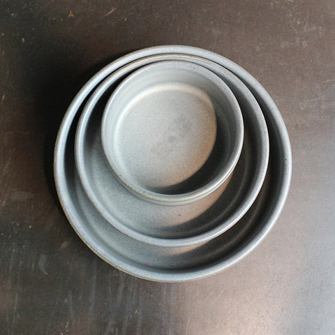.Grey Handmade Nesting Bowl Set