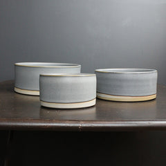 Grey Handmade Nesting Bowl Set