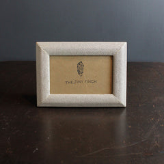 Silver Faux Shagreen Frame