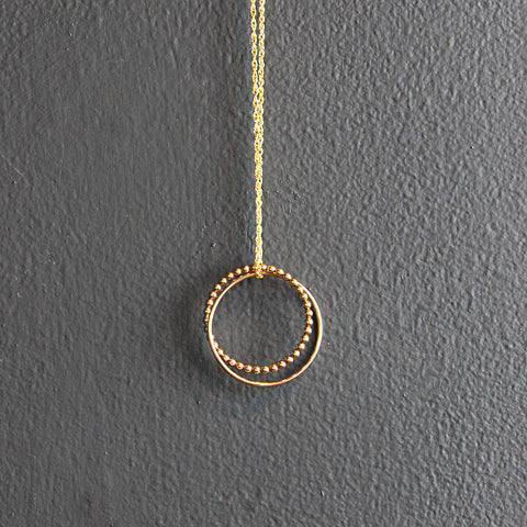 .Gold Filled Orbit Necklace
