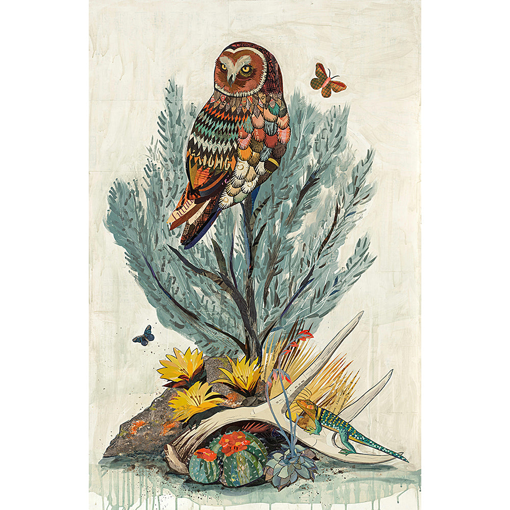 Multi Colored Print - Owl