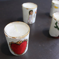 Hand Painted Votive Candle