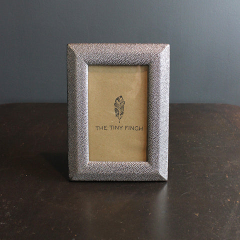 .Grey Faux Shagreen Frame