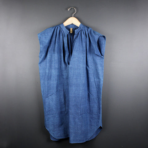 .Blue Khadi Tunic