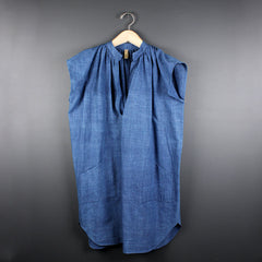 Blue Khadi Tunic