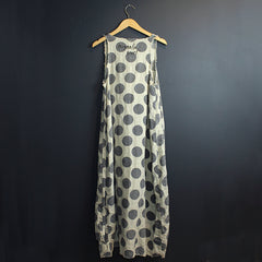 Cream + Grey Polka Dot Dress