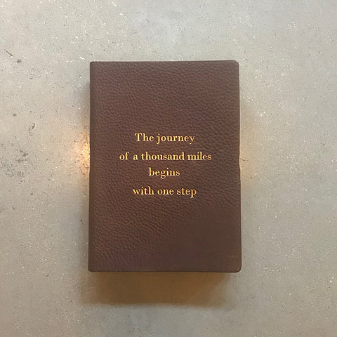 Handmade Leather Quote Journal