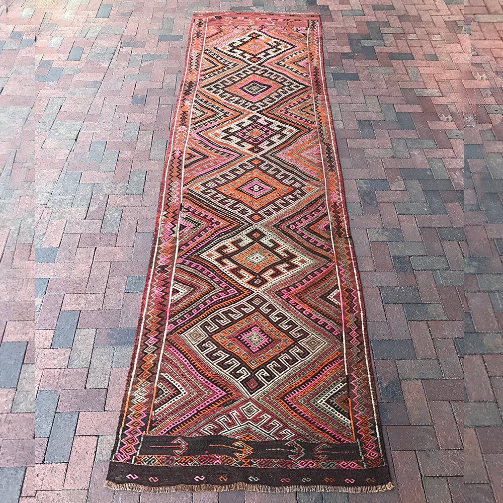 "Handwoven Turkish Runner - 44"" x 154"""