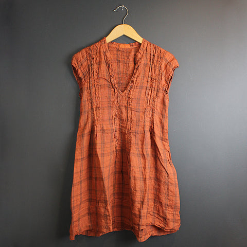 .Orange Regina Cap Sleeve Top