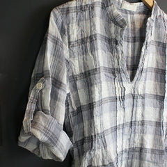 .Blue Plaid Regina Tunic