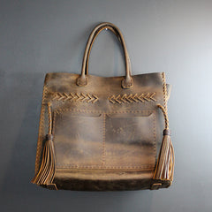 Brown Begonia Handmade Bag