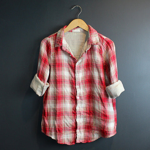 .Red Plaid Romy Top