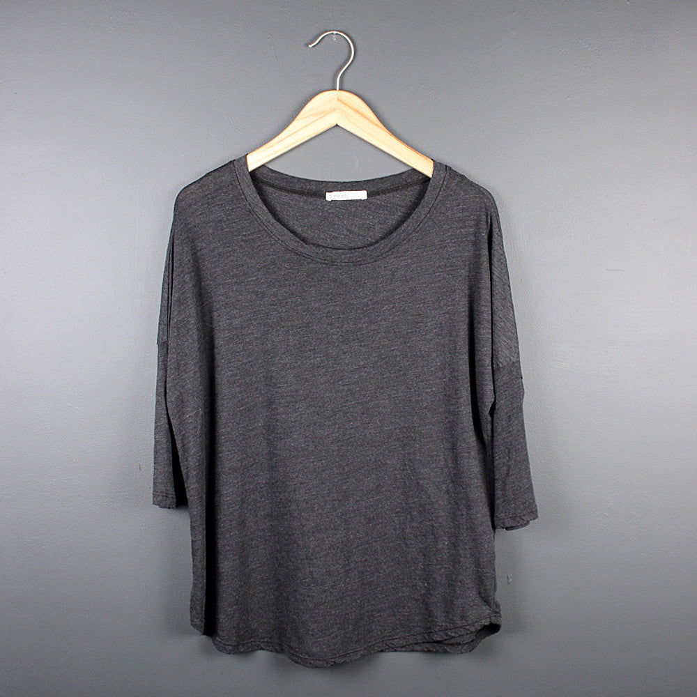 Charcoal Scoop Neck T-shirt